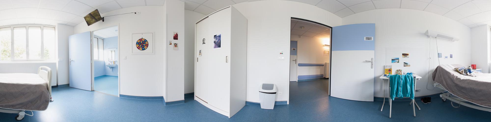 Chambre simple secteur pédiatrique